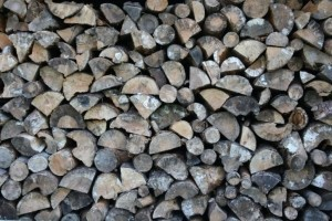 The Home Fire Shop- storing wood for a wood burning stove
