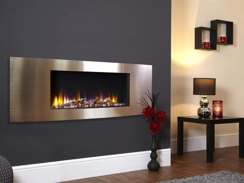 electric fires Celsi designer VR Vichy wall mounted inset electric fire